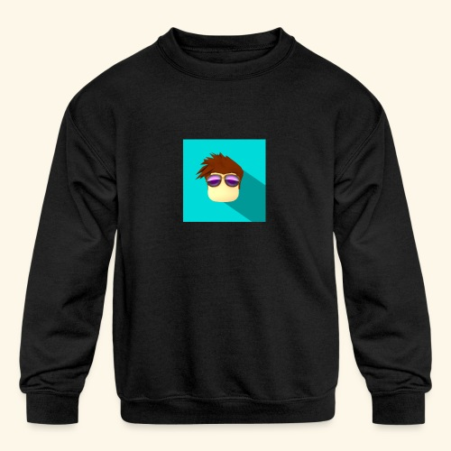 NixVidz Youtube logo - Kids' Crewneck Sweatshirt
