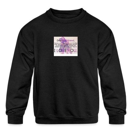 Cute best friends - Kids' Crewneck Sweatshirt