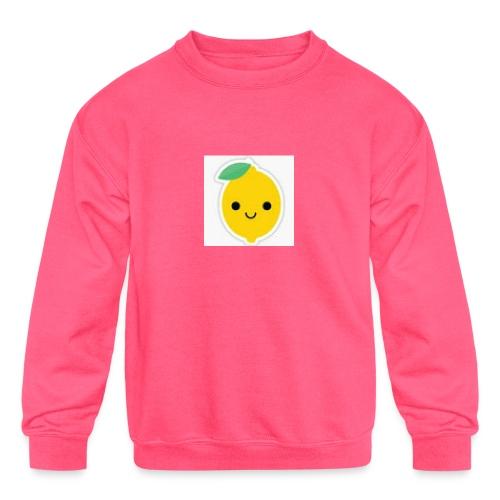 Lemon Squeeze - Kids' Crewneck Sweatshirt