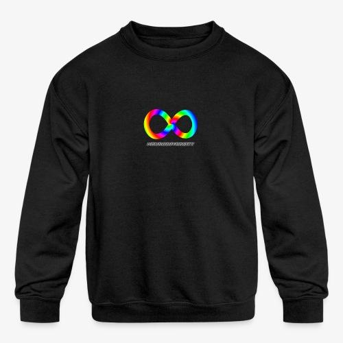 Neurodiversity with Rainbow swirl - Kids' Crewneck Sweatshirt