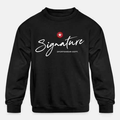 signature sportswear design t shirt - Kids' Crewneck Sweatshirt