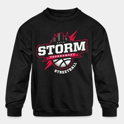 streetball basketball player - Kids' Crewneck Sweatshirt