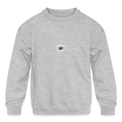 Self Sufficient Me Logo white small coy design - Kids' Crewneck Sweatshirt