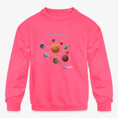 Solar System Scope : Solar System - Kids' Crewneck Sweatshirt