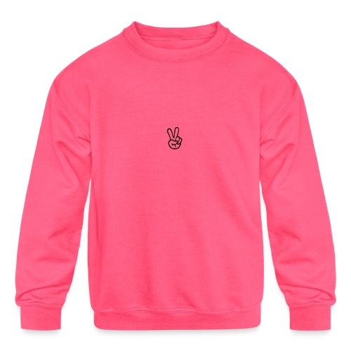 Peace J - Kids' Crewneck Sweatshirt