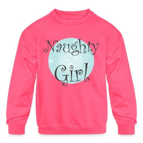 Naughty Girl 01 - Kids' Crewneck Sweatshirt