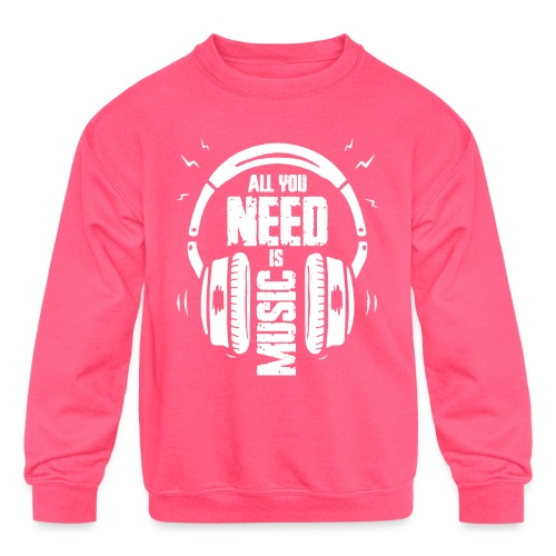 music - Kids' Crewneck Sweatshirt