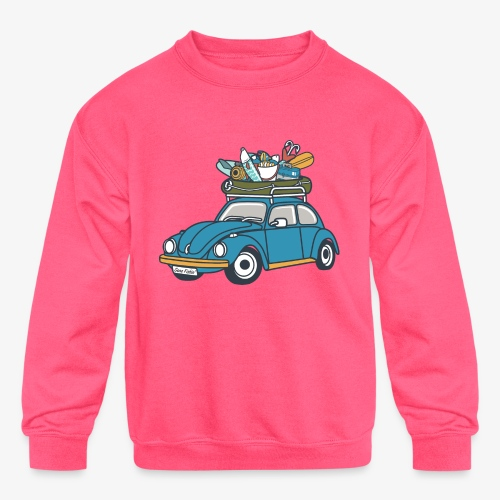 Gone Fishin' - Kids' Crewneck Sweatshirt