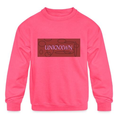 RED PINK UNKNXWN - Kids' Crewneck Sweatshirt