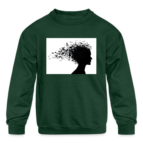 music through my head - Kids' Crewneck Sweatshirt