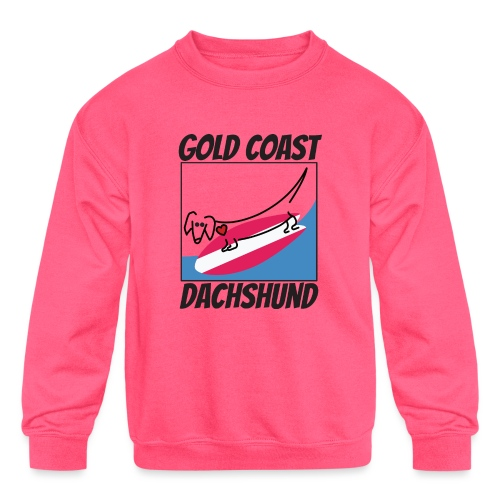 Gold Coast Dachshund - Kids' Crewneck Sweatshirt
