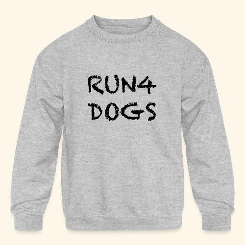 RUN4DOGS NAME - Kids' Crewneck Sweatshirt