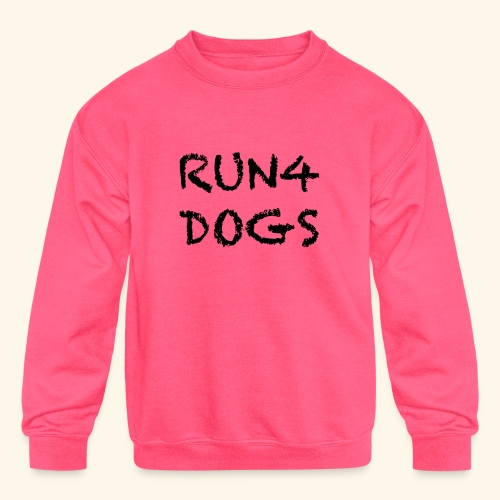 RUN4DOGS NAME - Kids' Crewneck Sweatshirt