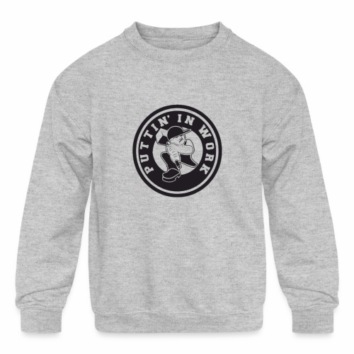 Puttin' In Work Apparel - Kids' Crewneck Sweatshirt