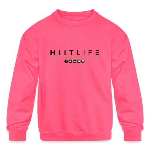 HLFLogosocial - Kids' Crewneck Sweatshirt