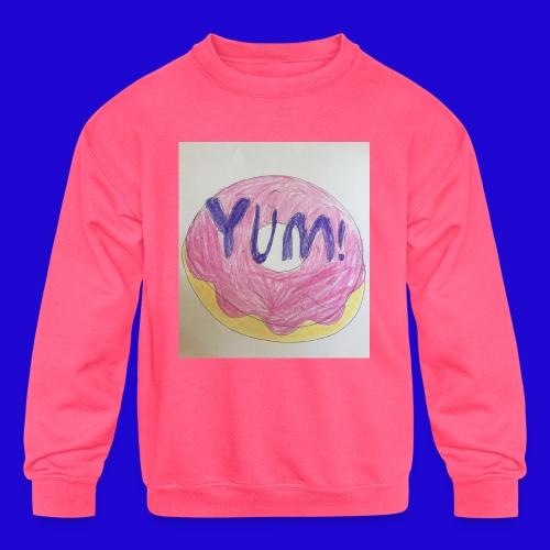 Yum! - Kids' Crewneck Sweatshirt