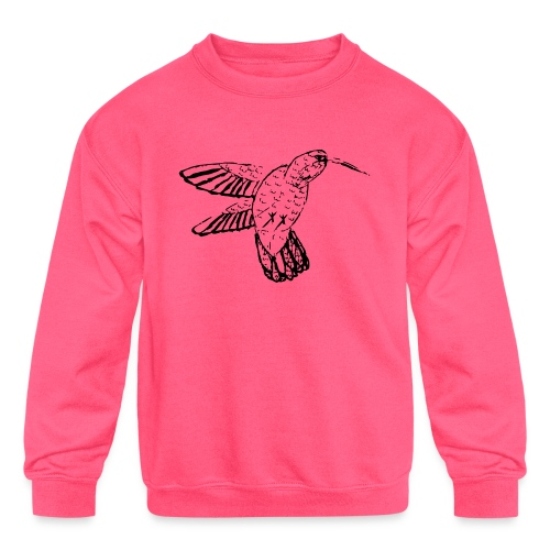 Hummingbird - Kids' Crewneck Sweatshirt