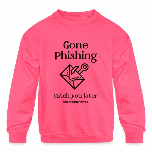 Gone Phishing - Kids' Crewneck Sweatshirt