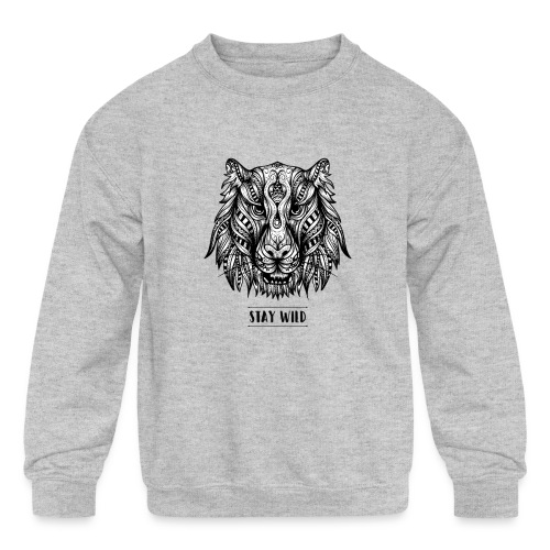 Stay Wild - Kids' Crewneck Sweatshirt