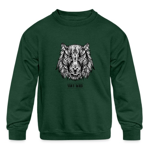 Stay Wild - Kids' Crewneck Sweatshirt