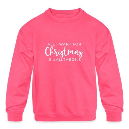 Christmas Oils - Kids' Crewneck Sweatshirt