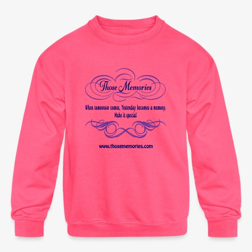Those Memories Logo - Kids' Crewneck Sweatshirt