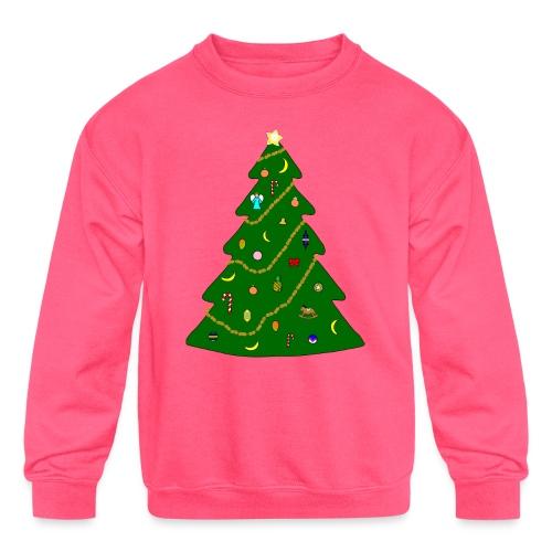 Christmas Tree For Monkey - Kids' Crewneck Sweatshirt
