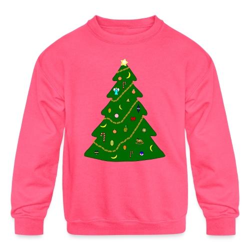 Christmas Tree For Monkey - Kids' Crewneck Sweatshirt