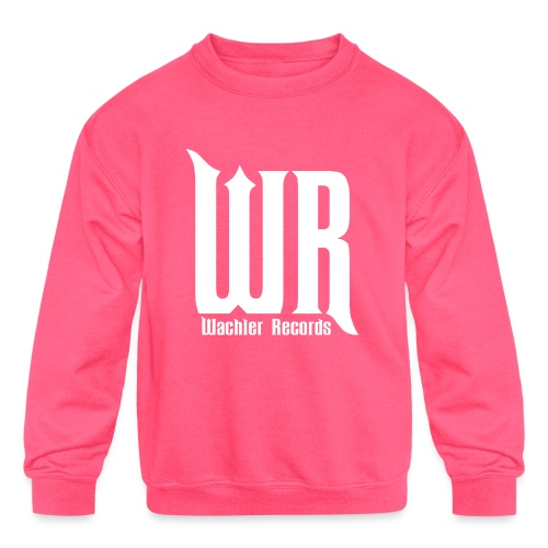 Wachler Records Light Logo - Kids' Crewneck Sweatshirt