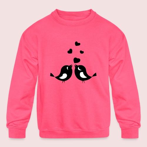 Love Birds - Kids' Crewneck Sweatshirt