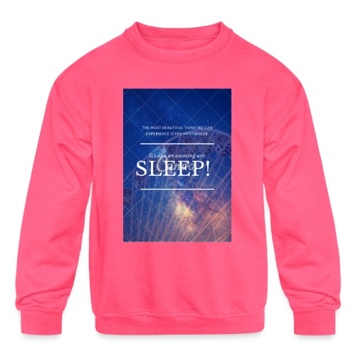 Sleep Galaxy by @lovesaccessories - Kids' Crewneck Sweatshirt
