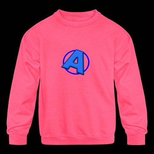 Awesomegamer Logo - Kids' Crewneck Sweatshirt