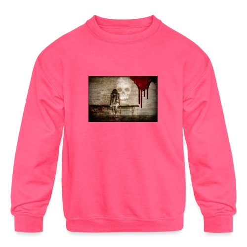 sad girl - Kids' Crewneck Sweatshirt