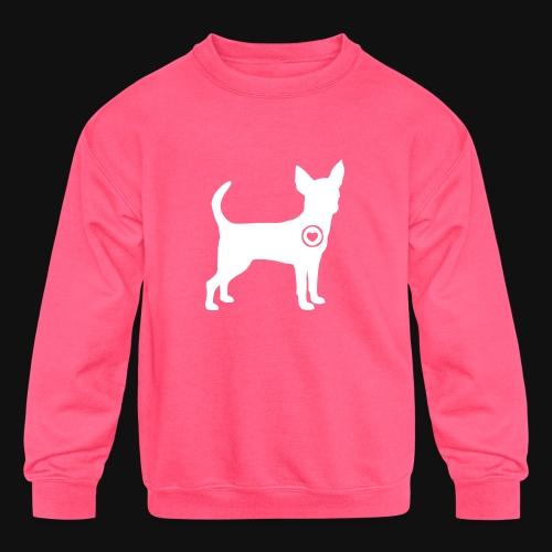 Chihuahua love - Kids' Crewneck Sweatshirt