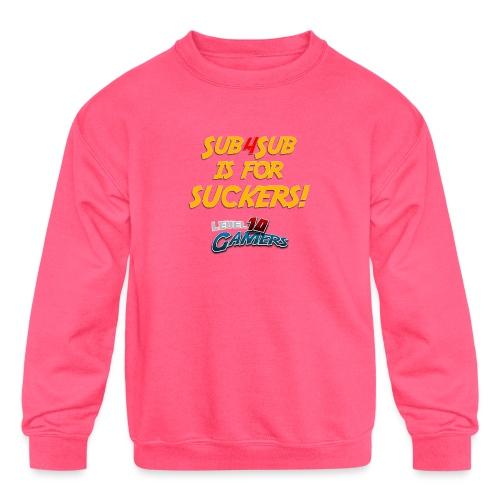 Anti Sub4Sub - Kids' Crewneck Sweatshirt