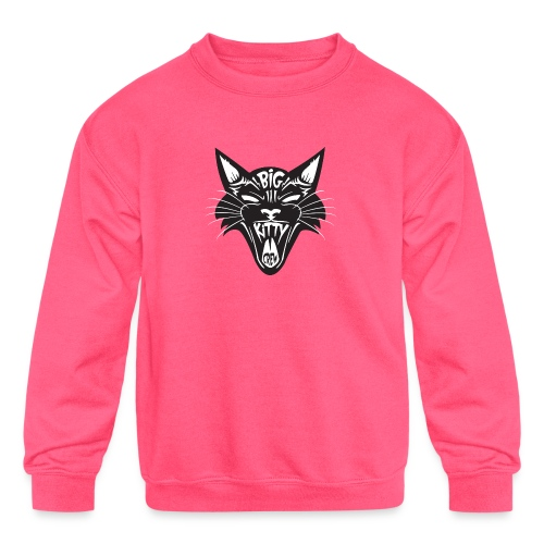 Big Kitty-Screaming Cat - Kids' Crewneck Sweatshirt