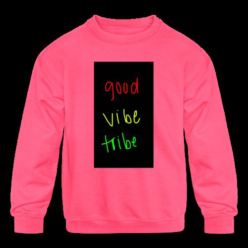 good vibe tribe - Kids' Crewneck Sweatshirt