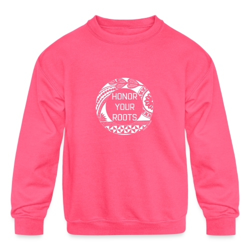 Honor Your Roots (White) - Kids' Crewneck Sweatshirt