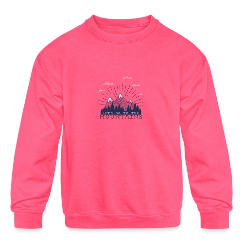 Adventure Mountains T-shirts and Products - Kids' Crewneck Sweatshirt