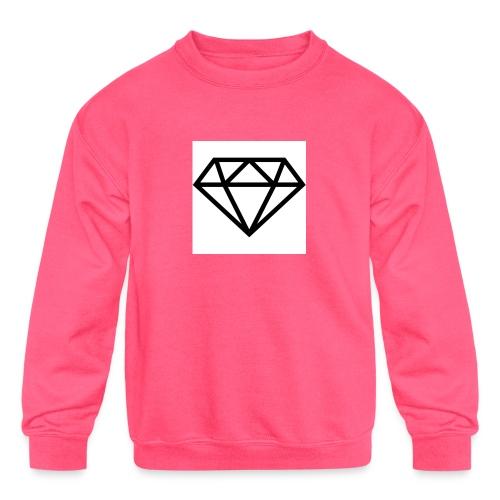 diamond outline 318 36534 - Kids' Crewneck Sweatshirt