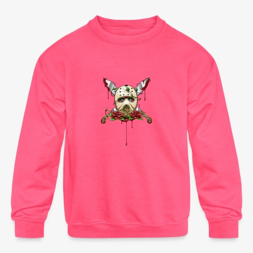 Exclusive Jason Vorhees Xay Papa edition Mask - Kids' Crewneck Sweatshirt