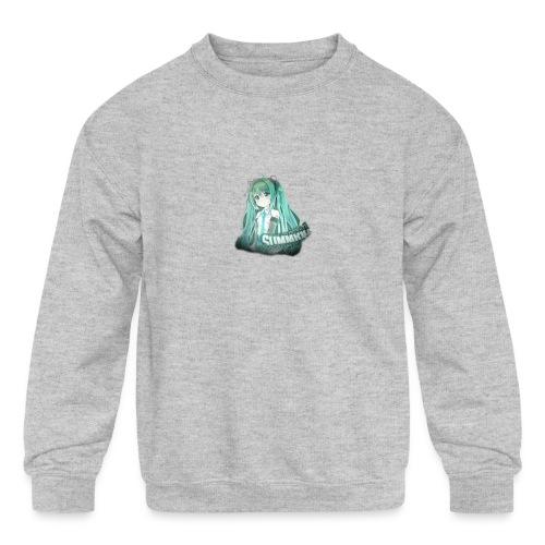 Summrrz Logo Transparent - Kids' Crewneck Sweatshirt