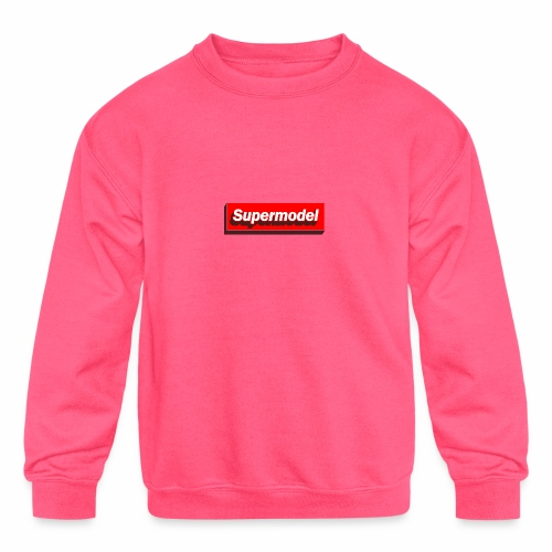 Supermodel - Kids' Crewneck Sweatshirt