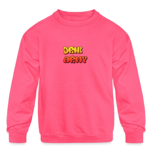 Drik Army T-Shirt - Kids' Crewneck Sweatshirt