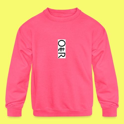 OntheReal kiddos - Kids' Crewneck Sweatshirt