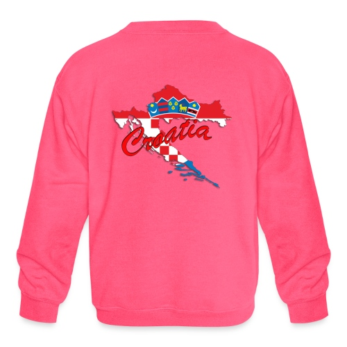 Croatia Football Team Colours T-Shirt Treasure Des - Kids' Crewneck Sweatshirt
