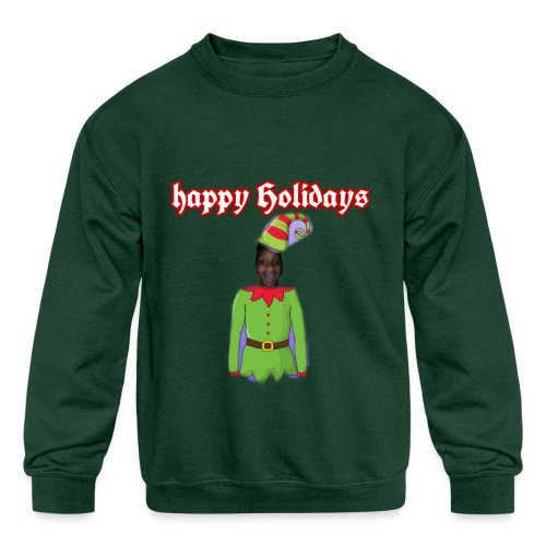Happy Holidays Elf LIMITED EDITION - Kids' Crewneck Sweatshirt