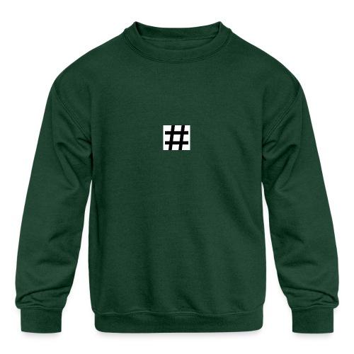 Hashtag Merch - Kids' Crewneck Sweatshirt