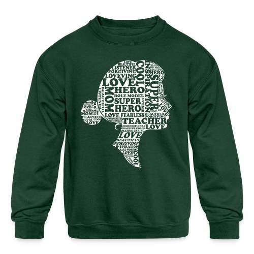 Mother Definition, Teacher Mom, Great Teacher Mom - Kids' Crewneck Sweatshirt