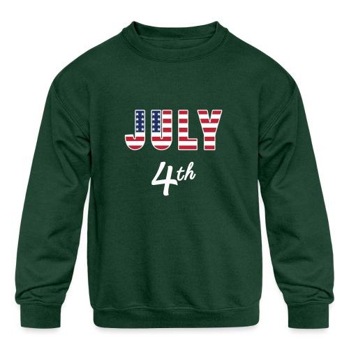 July 4th - Kids' Crewneck Sweatshirt